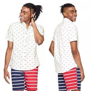 Vineyard Vines x Target Fishbone Button-Down Shirt